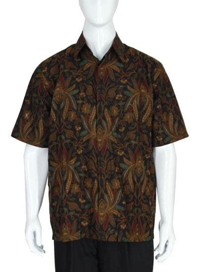 Baju Pisang kemeja batik baturaden motif pisang lasem kemeja lengan