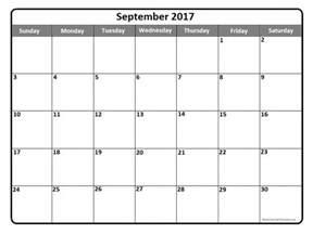 blank september 2017 calendar weekly calendar template