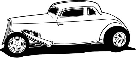 Free Cartoon Hot Rod Car Clipart Cliparts And Others Art Rat Rod Coloring In