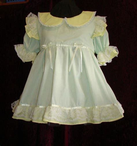 sissies in frilly dresses frilly mint and yellow adult baby sissy dress custom aunt