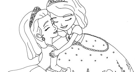 sofia the first coloring pages sofia and amber hugged