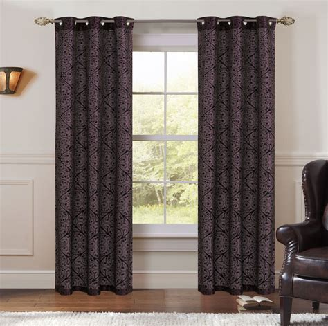 magenta curtain panels pair of perla magenta black jacquard window curtain panels