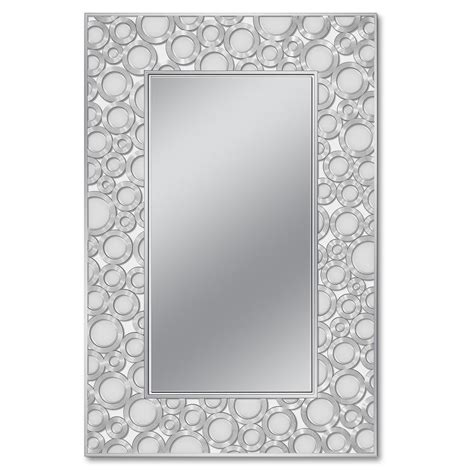 deco mirror mirrors 36 in x 24 in etched geometric wall deco mirror 24 in w x 36 in h etched motion circles wall