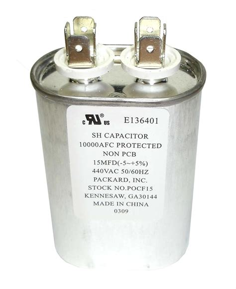 what is a motor run capacitor 15uf 440 volt oval motor run capacitor