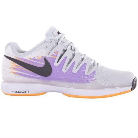 nike zoom vapor 9 5 tour s tennis shoe grey lilac mango