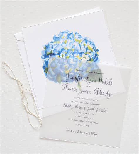 Hydrangea Wedding Invitations