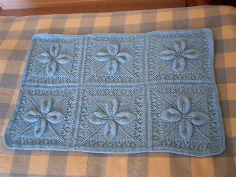 leaf pattern knitted blanket k leaf square baby blanket finished