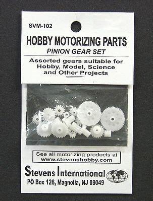 8 T Plastic Pinion Gear Set assorted plastic pinion gear set 1 9mm id 20pcs svm102 motors science engineering kits