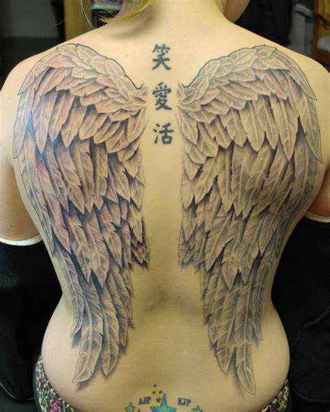 angel wing back tattoo back wings by joshing88 on deviantart