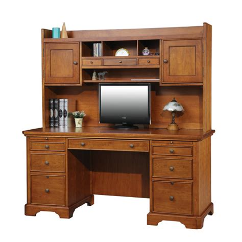 Desk With Hutch And Drawers Winners Only Inc Flat Top Computer Desk With 3 Drawer Hutch Reviews Wayfair