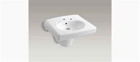 kohler commercial bathroom sinks brenham wall mount with single faucet hole k 1999