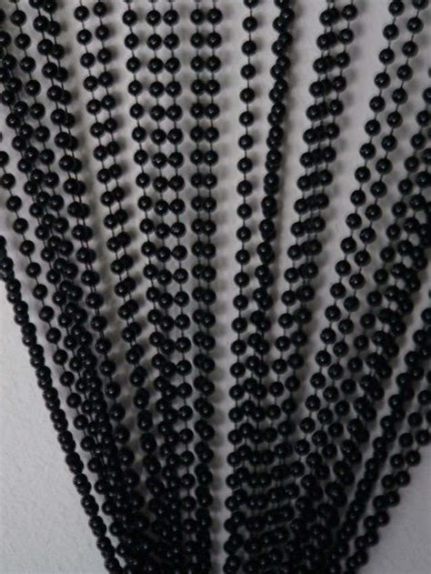 black bead curtains doorway beaded curtains faux metal jet black ball chain
