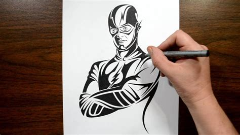 the flash tattoo how to draw the flash tribal design style