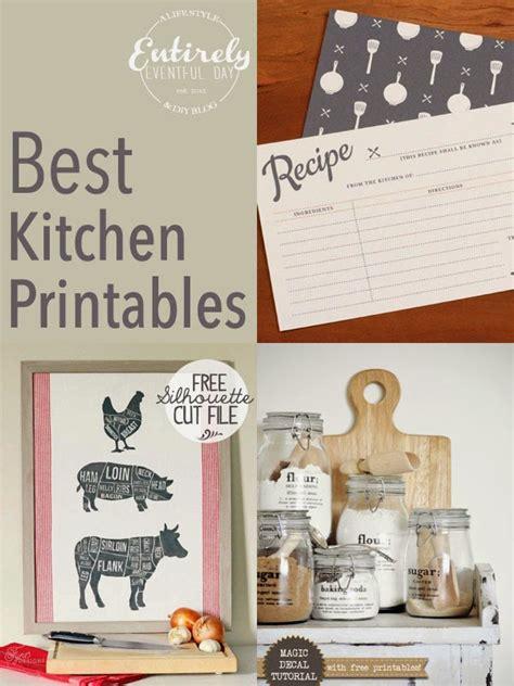eventful day    kitchen printables