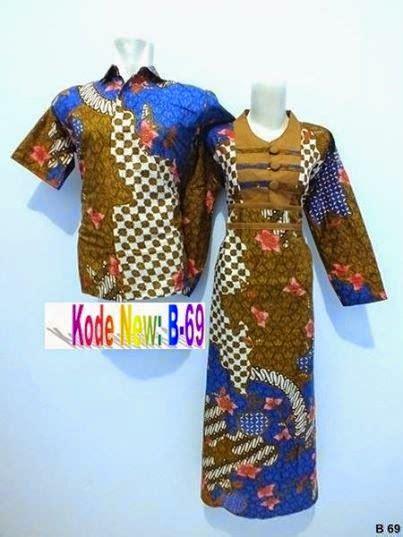 Jual Pakaian Sarimbit batik kerja pria wanita