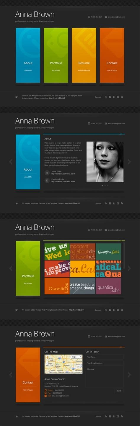 theme wordpress vertical cascade is a minimalist personal vcard wordpress theme