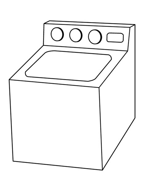 washing coloring sheet picture of washing machine cliparts co
