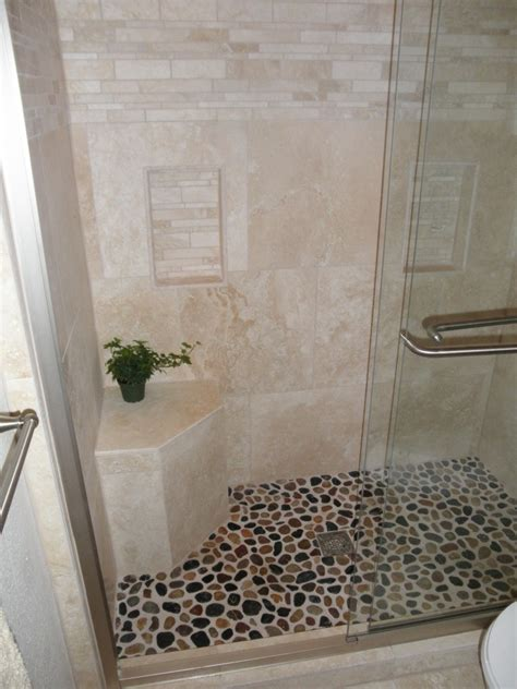 Bathroom Tile Floor Ideas by 26 Nice Pictures And Ideas Of Pebble Bath Tiles