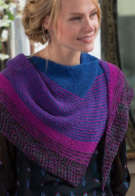modern knitting free knitting pattern for easy modern stripe shawl julie
