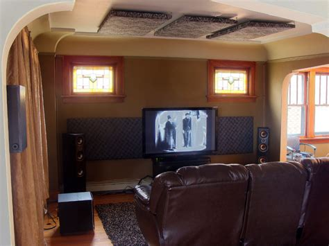 place acoustic treatment   home theater