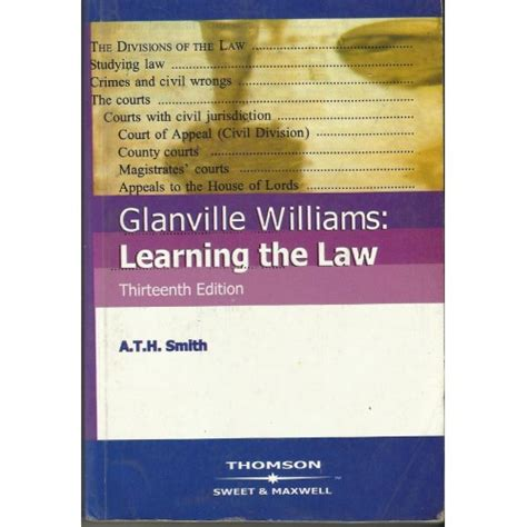 glanville williams learning the 0414028236 glanville williams learning the law