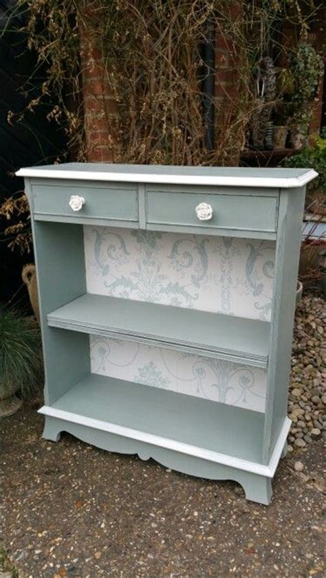 shabby chic bookcase hand painted in annie sloan s duck