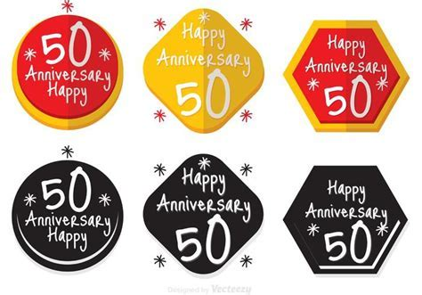50th Anniversary Badge   Download Free Vector Art, Stock