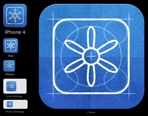 All the sizes of iOS app icons - Neven Mrgan's tumbl