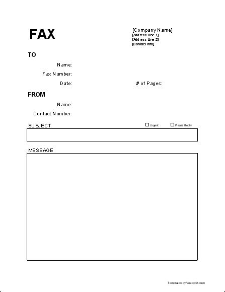 fax cover page template free fax cover sheet template printable fax cover sheet