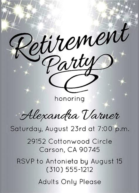 retirement party invitation template free with retirement invitation