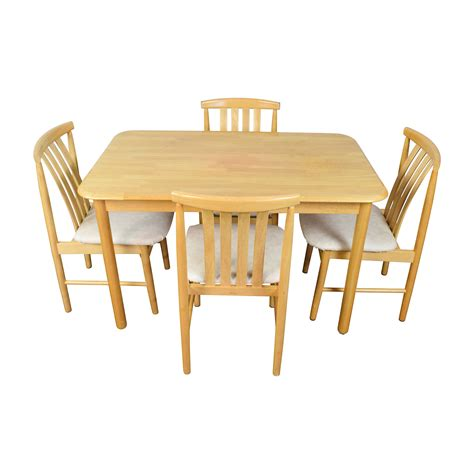 light wood table with chairs 71 light wood dining table with four chairs tables