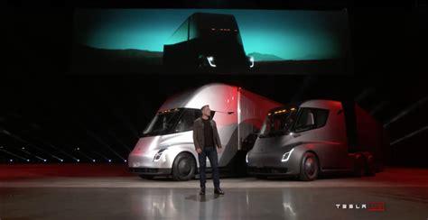 elon musk upcoming events tesla debuts electric beast semi truck design news