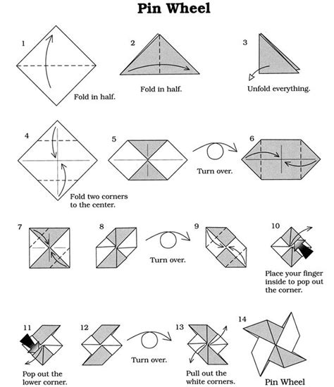 How To Make A Pinwheel Origami - origami vouwen windmolentje dover publications