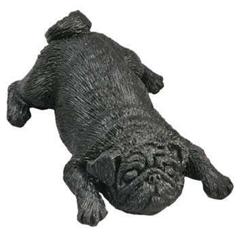 black pug figurine pug figurine statue black sandicast 174 snoozer sz143 at animal world 174
