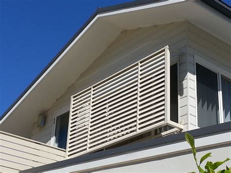 privacy awnings privacy screen louvers with standoff legs eco awnings