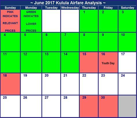 kulula specials in june 2018