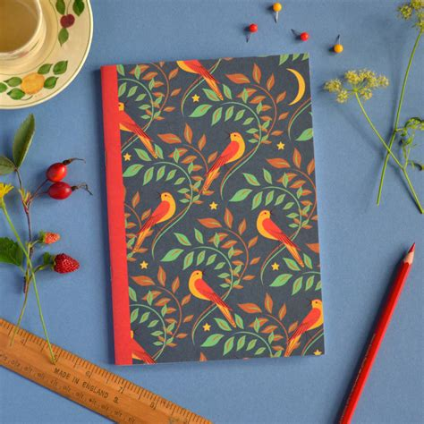 pattern notebook nightingale pattern notebook a5 size by red gate arts