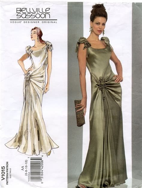 design a dress pattern vogue 1015 dress pattern designer original by belleville