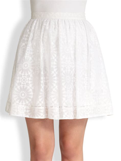 white patterned voile elizabeth and james risley tonal patterned voile skirt in