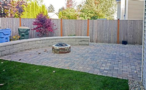 backyard outdoors backyard transformation in tumwater ajb landscaping fence
