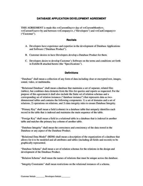 product agreement template product development agreement template sletemplatess