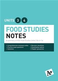 food studies notes vce units   buy textbook