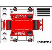 PAPERMAU Volkswagen Kombi Type II Coca Cola Paper Model