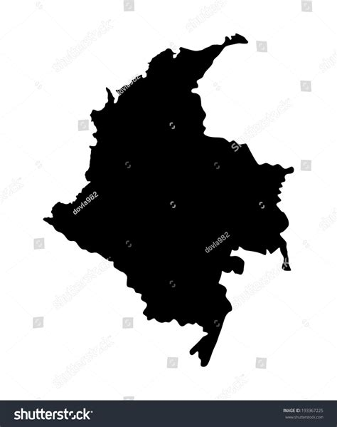 colombia vector map vector colombia map