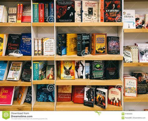 bookstore bookshelves science fiction literature books for sale in bookstore