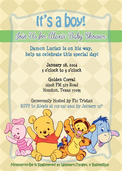 Free Printable Winnie The Pooh Baby Shower Invitations by Winnie The Pooh Baby Shower Invitation Ideas