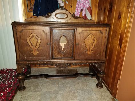 antique buffet marked virginia table company  antique furniture collection