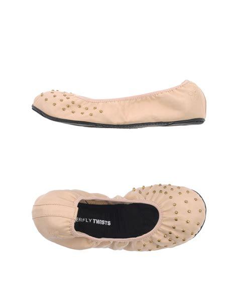 beige ballet slippers butterfly twists ballet flats in beige lyst