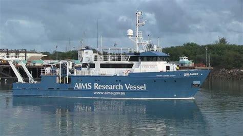 catamaran research ship boat solander 9423463 aims research vessel departs darwin