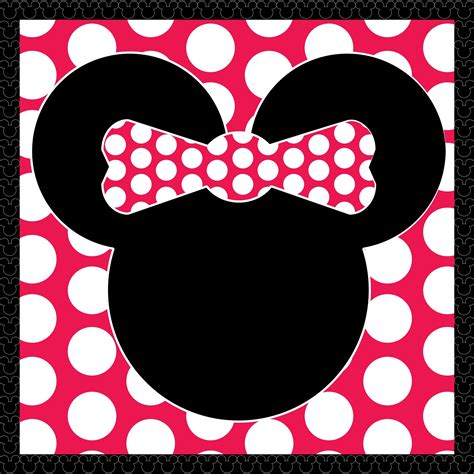 8 best images of free printable minnie mouse template